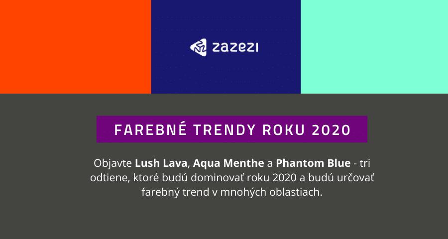Farebné trendy roku 2020