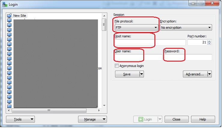 Obrázok č.1 - Spustenie aplikácie WinSCP.