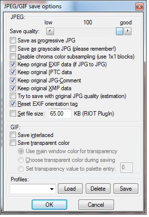 Obrázok č. 5 - Nadstavenie output formátu.